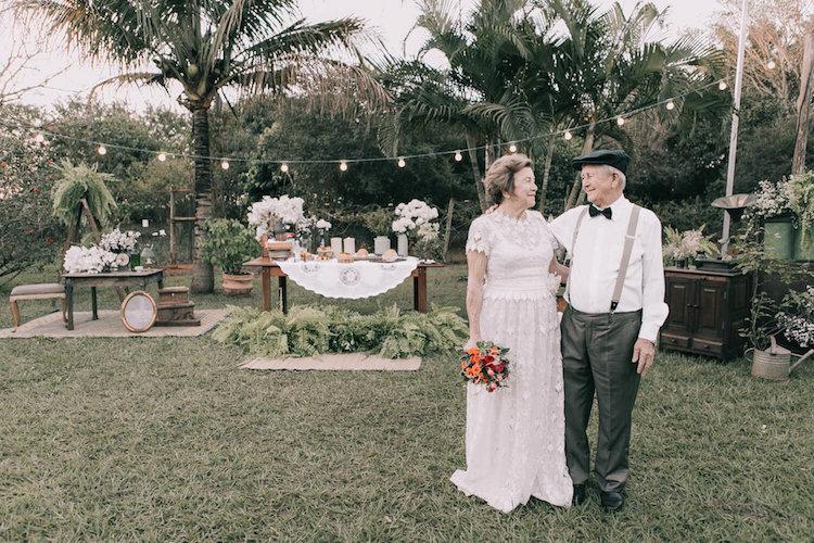 Elderly Couple Wedding Photos
