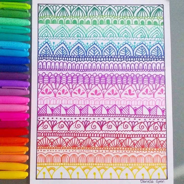 Learn How To Create Zentangle Art A Meditative Form Of Drawing Adorable Zentangle Pattern Ideas