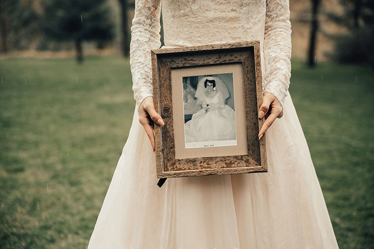 Bride Wears Grandmother's Wedding Dress