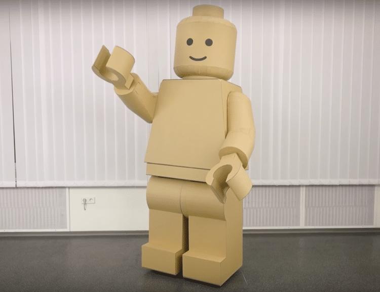 cardboard lego costume is fun halloween diy project
