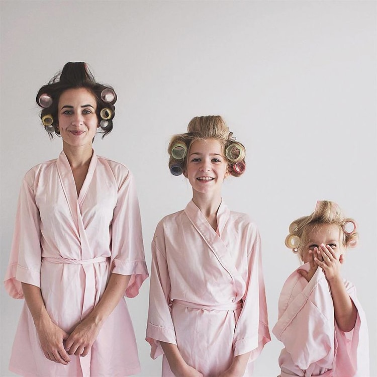 a66a6e3103 Photo Series of Mom and Daughters in Matching Outfits Make Us Smile