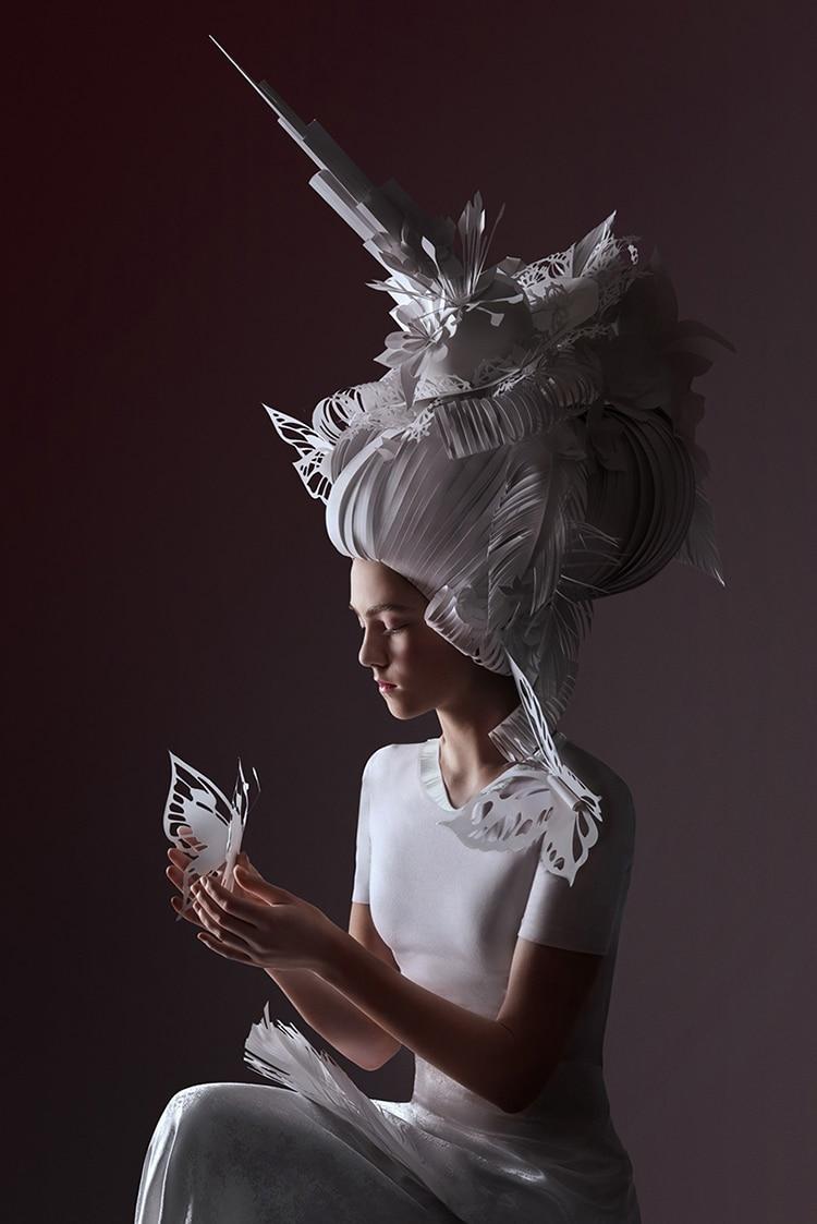 Asya Kozina Baroque Paper Wigs