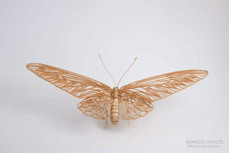 Insect Art Bamboo Art Sculpture Noriyuki Saitoh