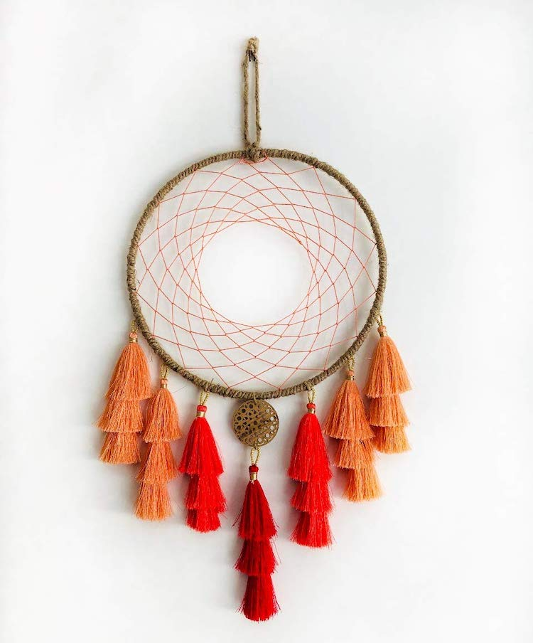 Boho Dreamcatcher - Autumn Inspired Wall Hanging