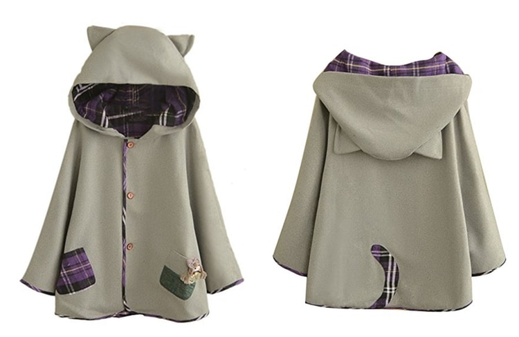 hooded cat ear cape