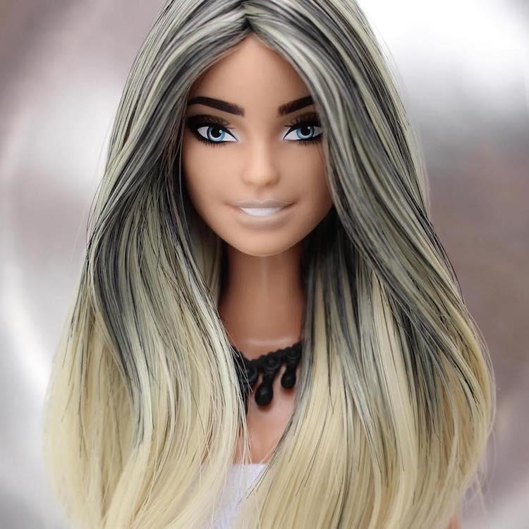 Artist Crafts Custom Tiny Wigs to Turn Ordinary Barbies into Glamorous Dolls