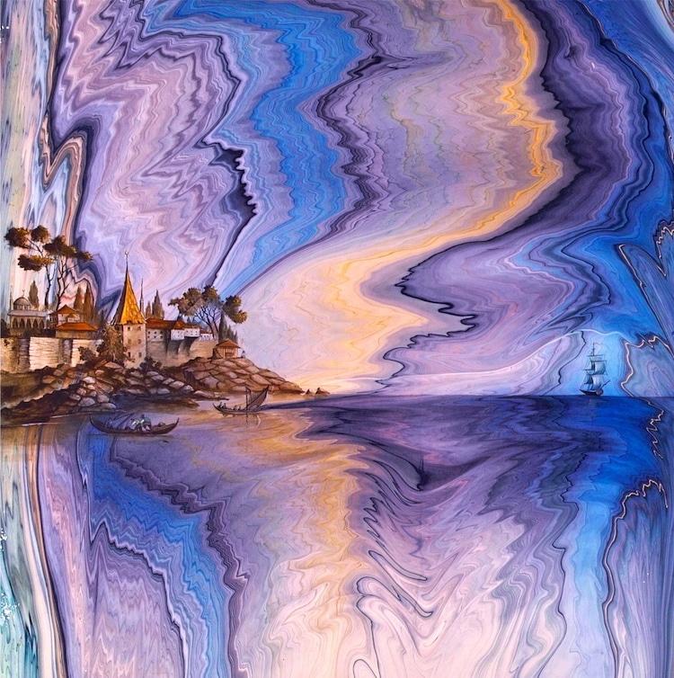 Ebru Painting Ebru Art Paper Marbling
