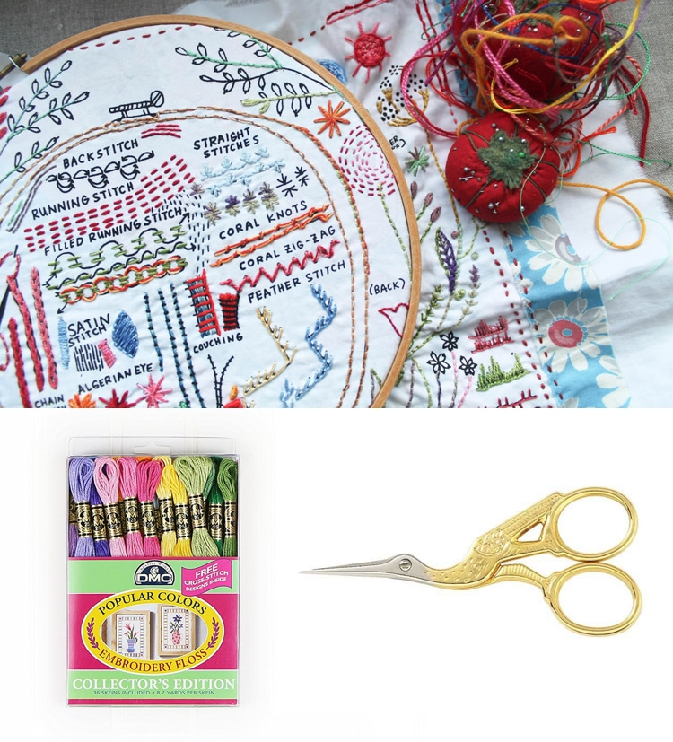 2017 gift guide embroidery starter kit