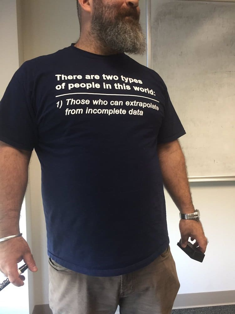 a2b60817 Economics Professor Wears Funny T-Shirt That Baffles His PhD Students