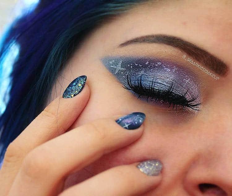 Galaxy Face Makeup