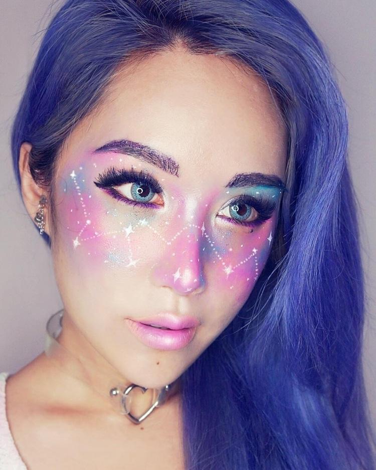 Galaxy Makeup Galaxy Freckles Makeup Art