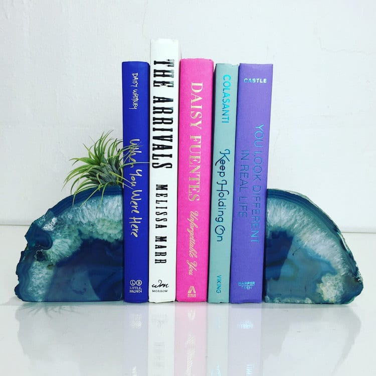 Gift Guide 2017 Geode Bookends