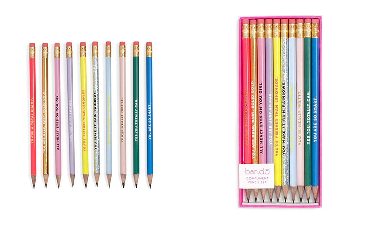 Gift Guide Women's Compliment Pencil Set Ban.do