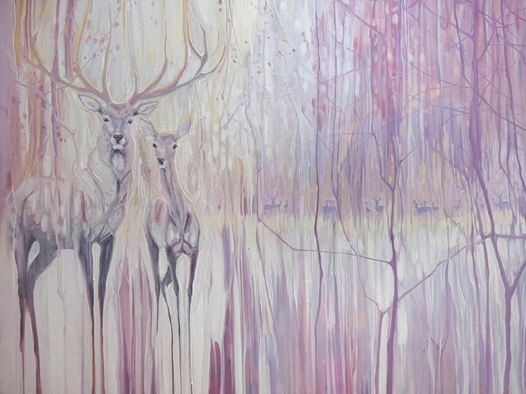 Ethereal Landscape Paintings by Gill Bustamante
