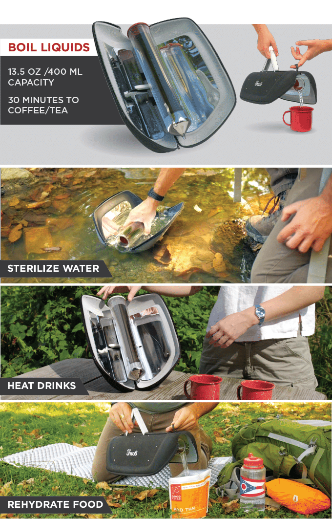 solar cooker for camping gosun