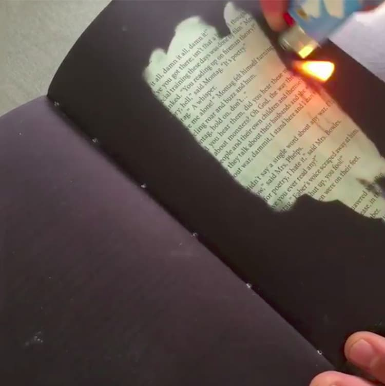 Heat Sensitive Book Fahrenheit 451