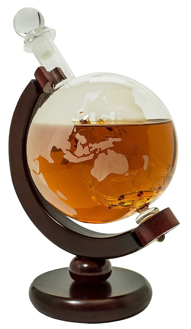 Holiday Gift Guide 2018 BarMe Globe Liquor Decanter Amazon Best Seller