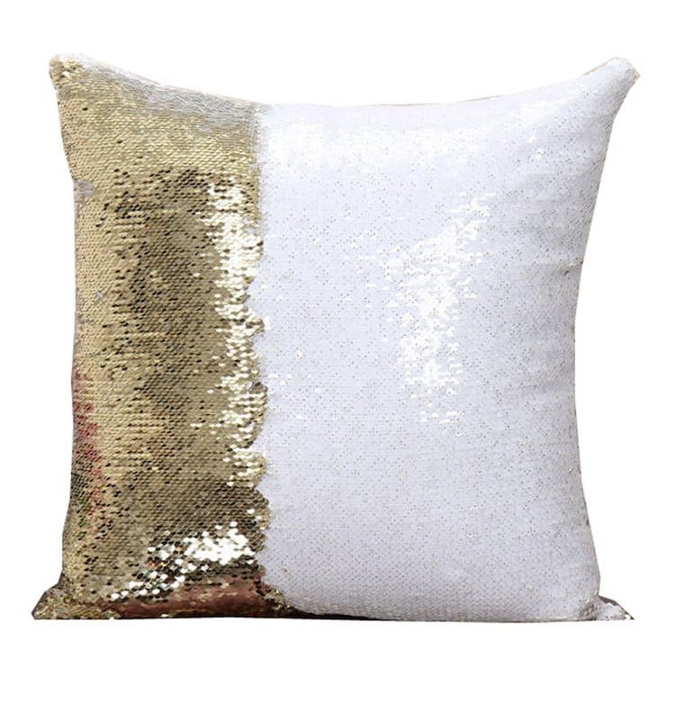 Holiday Gift Guide 2017 Reversible Sequin Throw Pillow