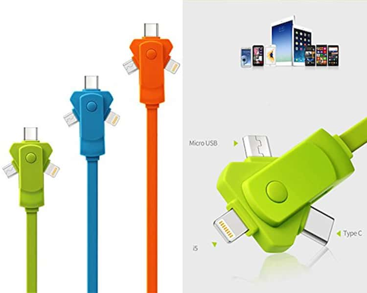 Holiday Gift Guide 2017 SwivelCord 3-in-1 Charging Cable