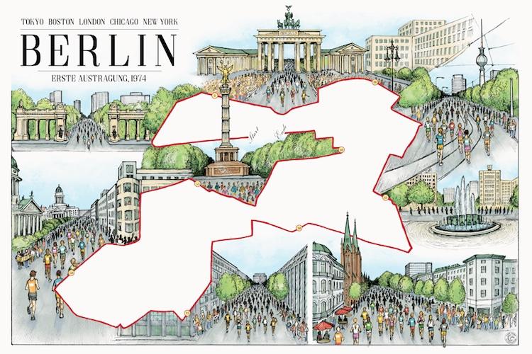 Marathon Map Illustration