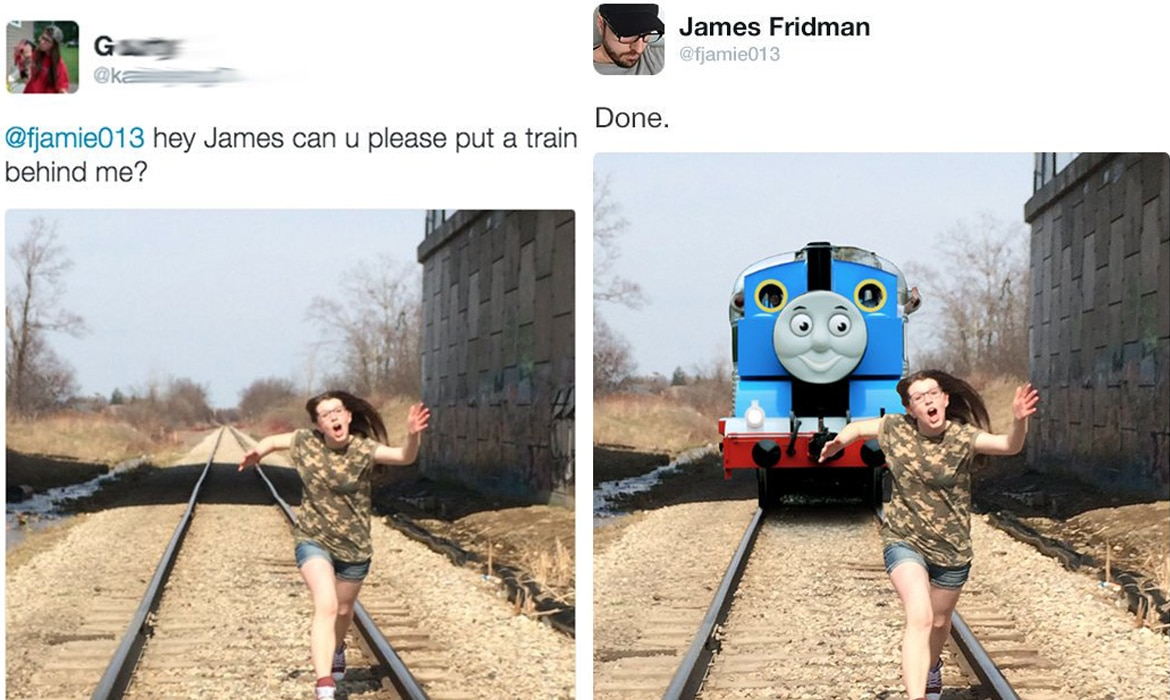 Photoshop Drôle Troll James Fridman