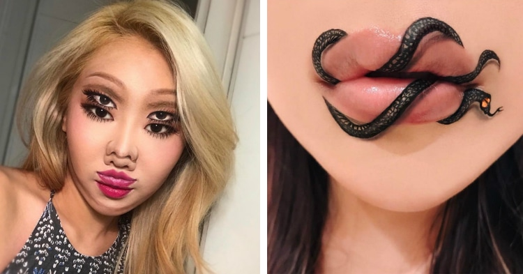 illusion makeup tricks put a unique spin on optical illusion art