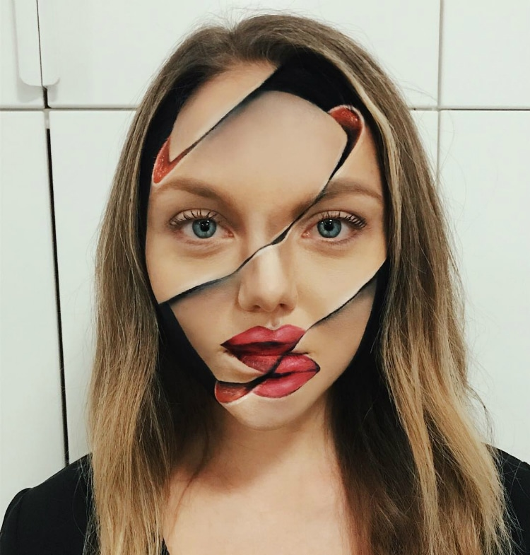 Illusion Makeup Tricks Optical Illusion Art Cool Makeup