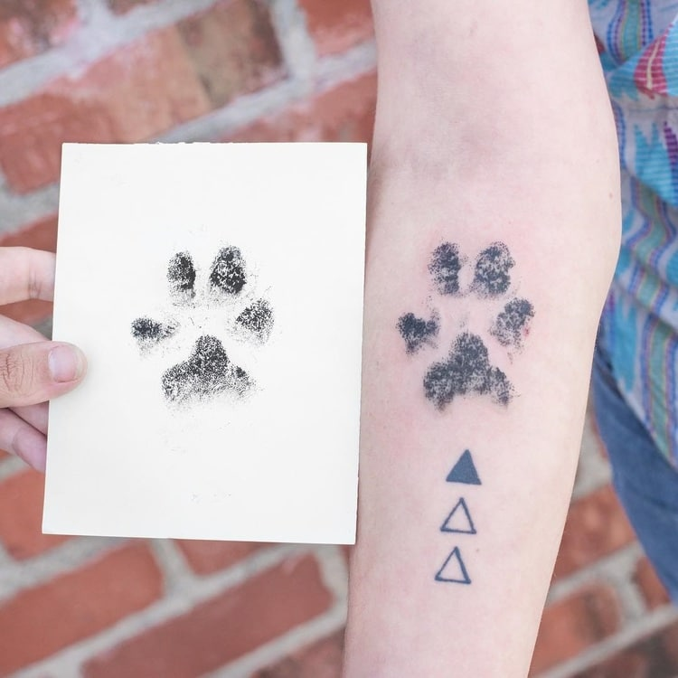 people are branding themselves with dog paw tattoos rh mymodernmet com dog paw tattoo ideas dog paw tattoo designs