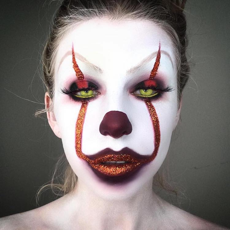 15 Terrifying Transformations With Pennywise Clown Makeup