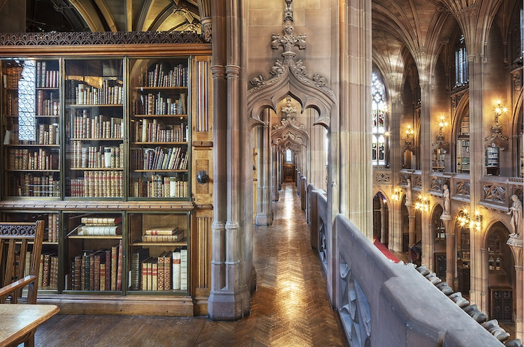 cathedral of books manchester by reinhard gorner