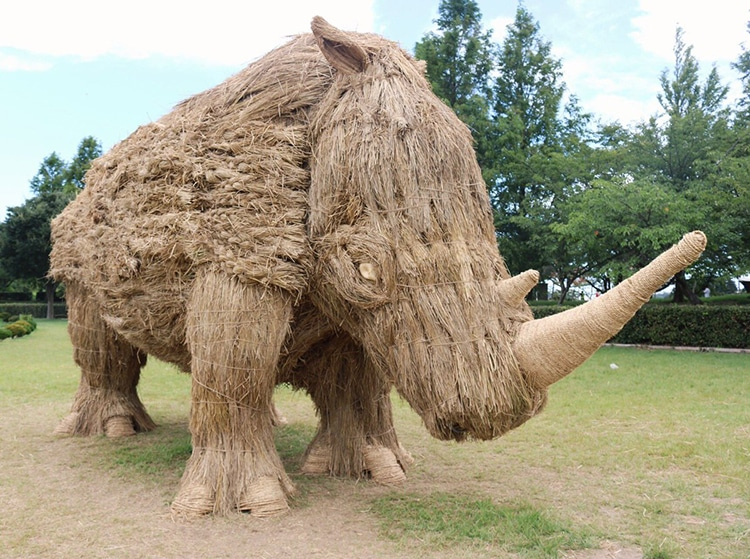 Straw Animal Sculpture Festival Japan