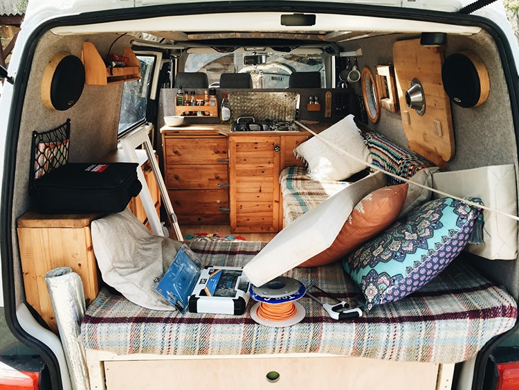 couple choose the van life and travel 80 000 miles through. Black Bedroom Furniture Sets. Home Design Ideas