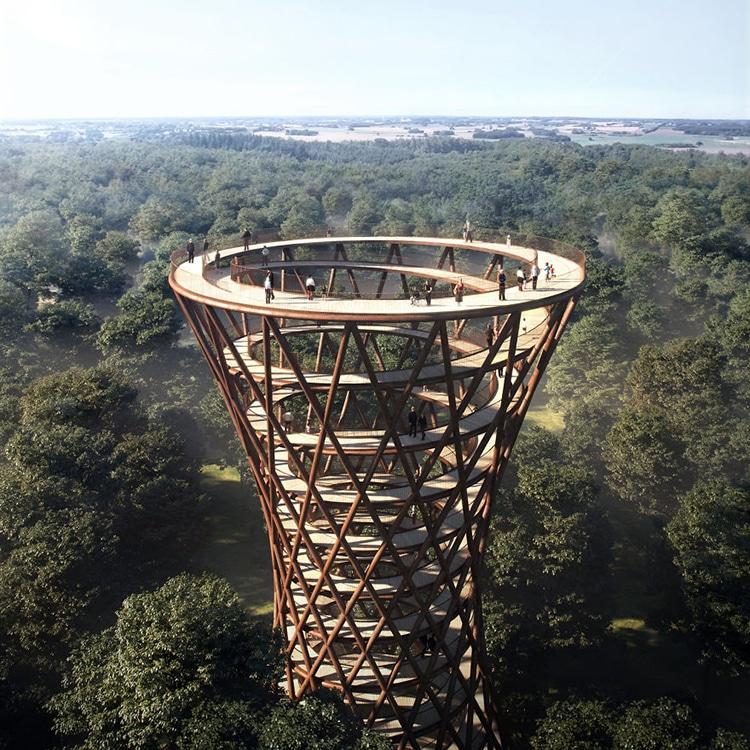 Spiral Treetop Walkway Denmark by Effekt