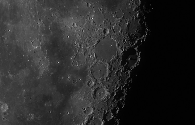 detail of 100 megapixel moon photograph by 100 Megapixel Moon by Seán Doran