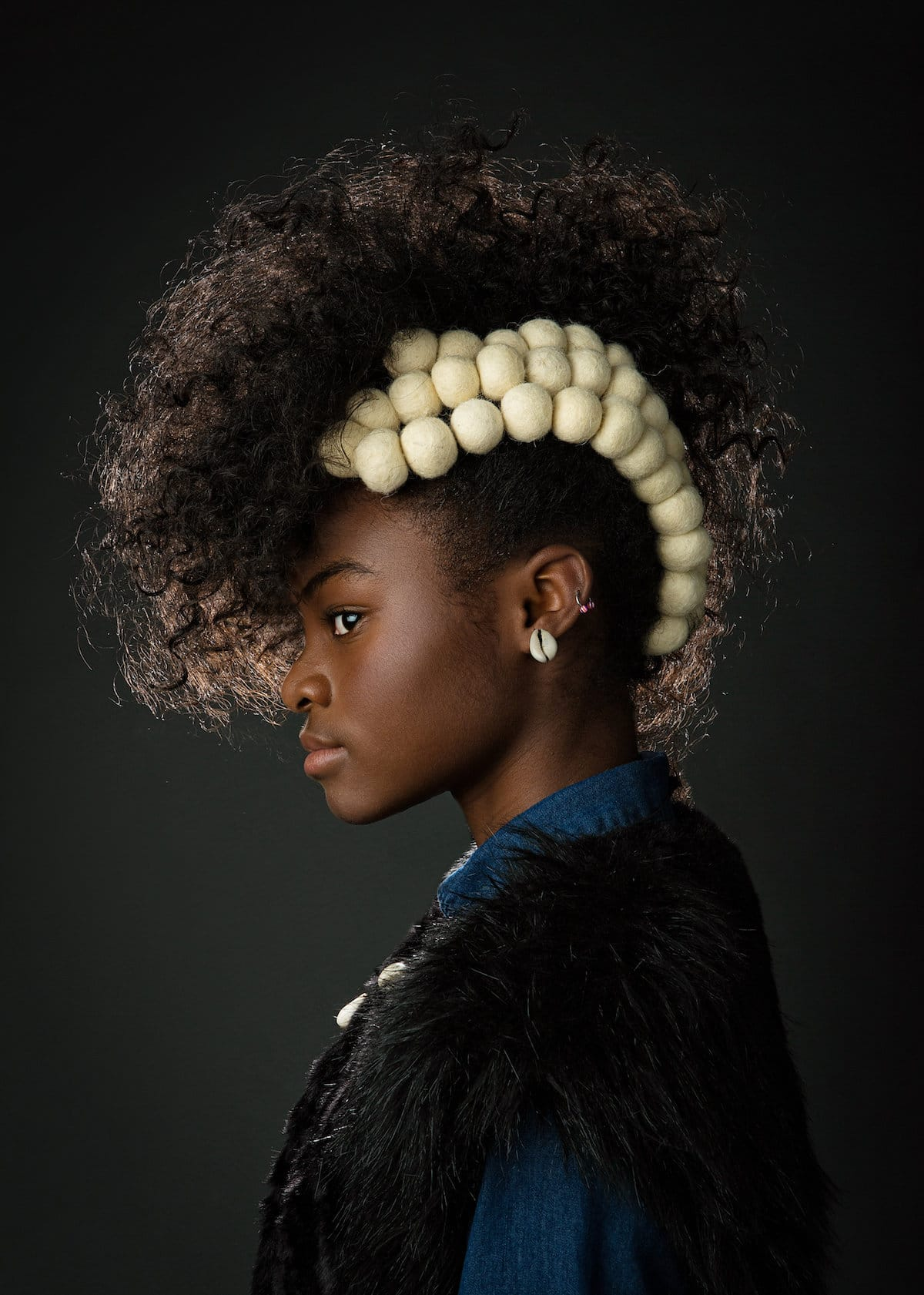Baroque Inspired Natural Hair