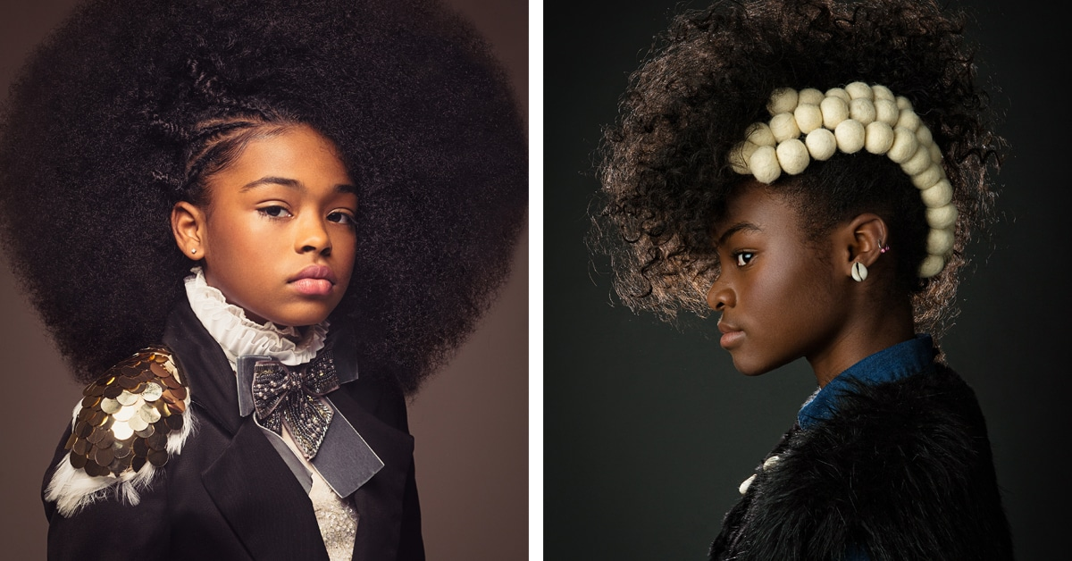 Baroque-Inspired Portraits Celebrate the Beauty of Black Girls' Natural Hair