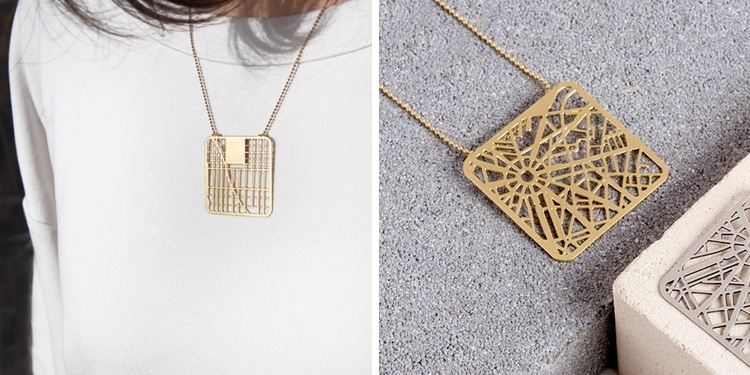 City Map Necklaces Gift Guide 2019