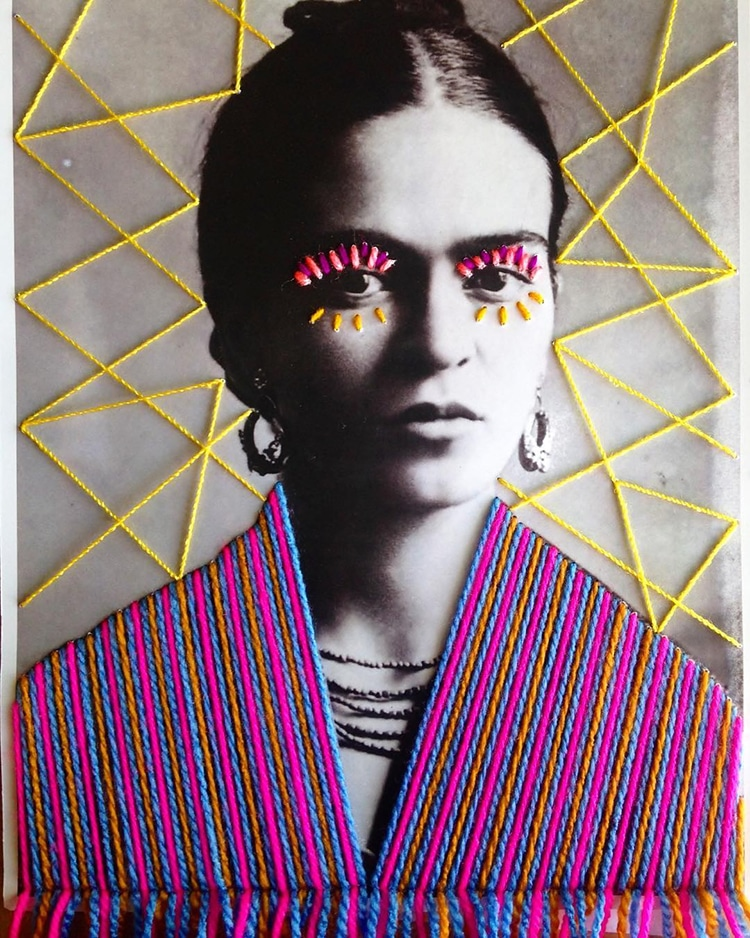 Colorful Embroidery on Vintage Photographs by Victoria Villasana