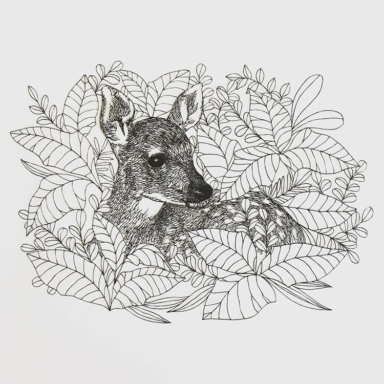 Delicate Paper-Cut Illustrations by Kanako Abe