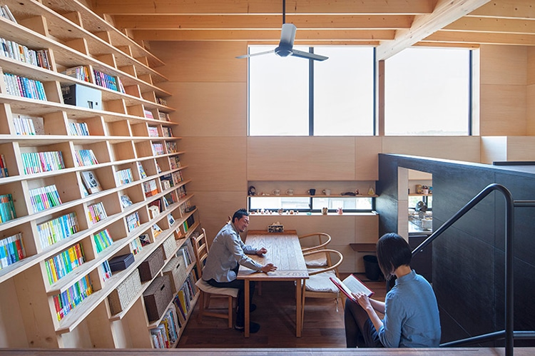 ... Earthquake Proof Floor To Ceiling Bookshelf By Architect Shinsuke Fujii