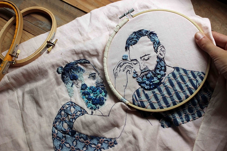 Embroidery Portraits by Bugambilo