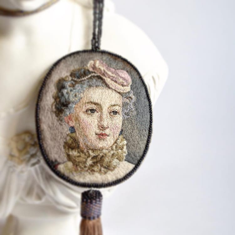 Embroidery Renaissance Paintings by Maria Vasilyeva