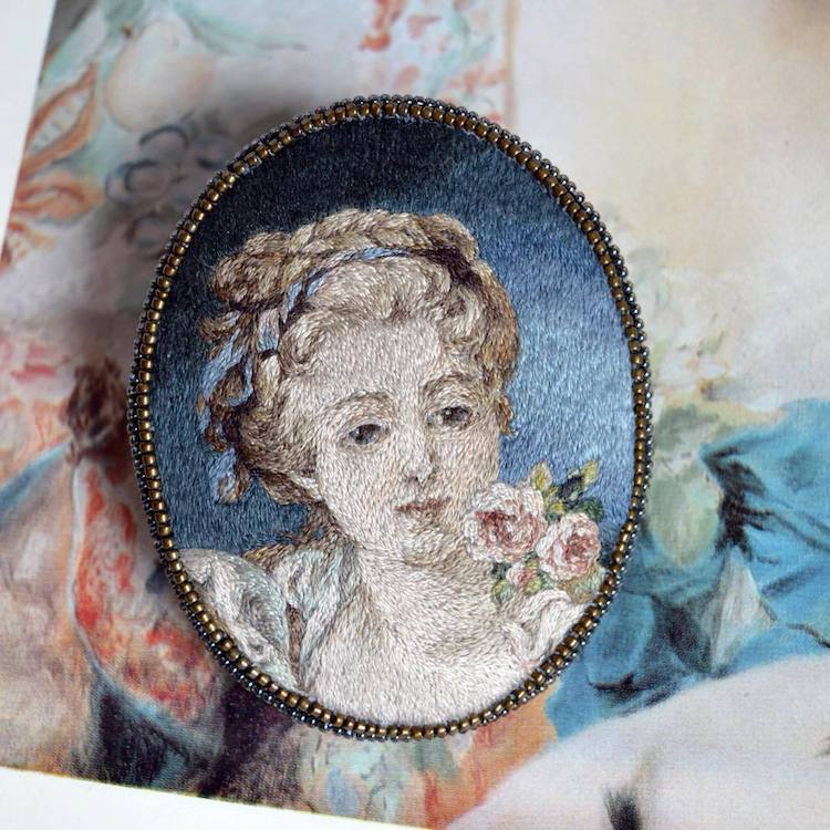 Embroidery Renaissance Paintings Maria Vasilyeva