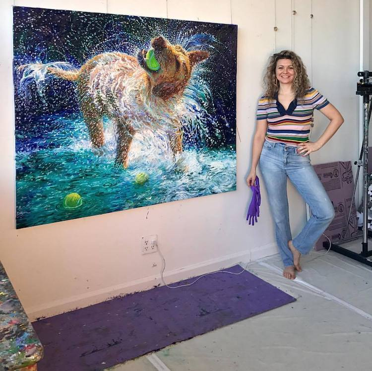 Finger Painting Artist Iris Scott