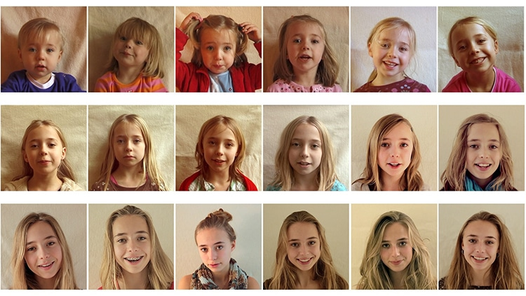 Time Lapse Children Growing Up Video by Frans Hofmeester