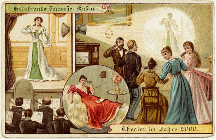 future predictions illustrations from 1900