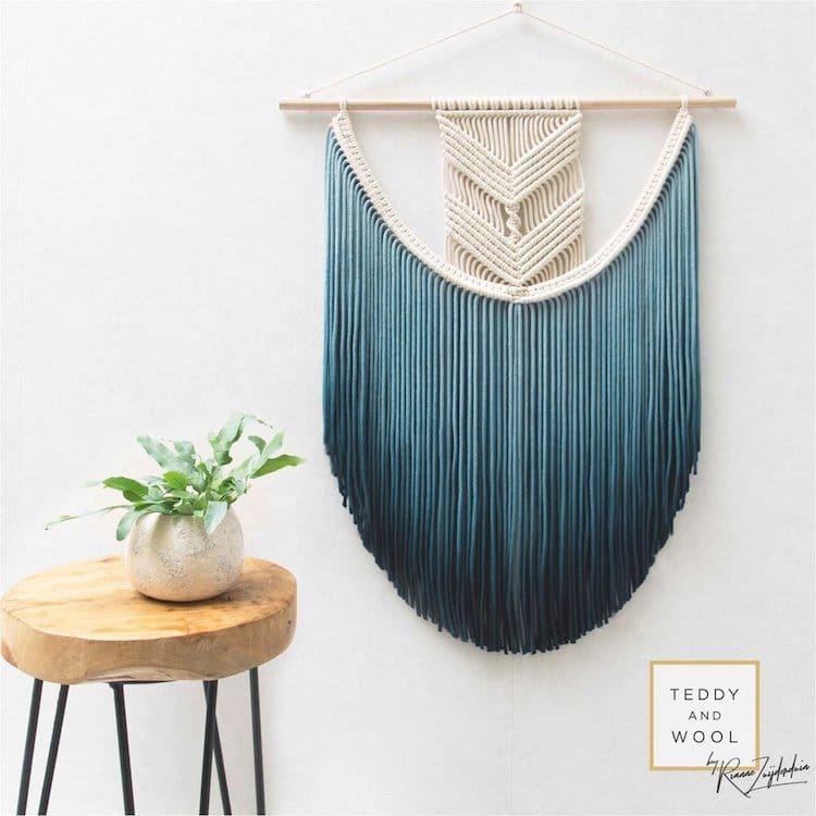 Christmas Gift Guide 2018 Gray Turquoise Macrame