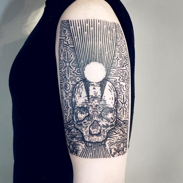 Half Sleeve Landscape Tattoos by Lisa Orth