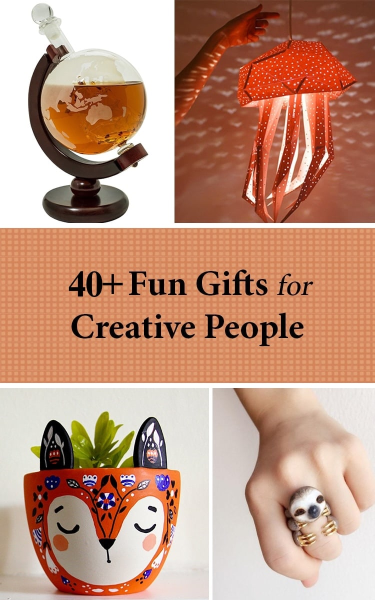 40+ unique gifts for artistic people | holiday gift guide