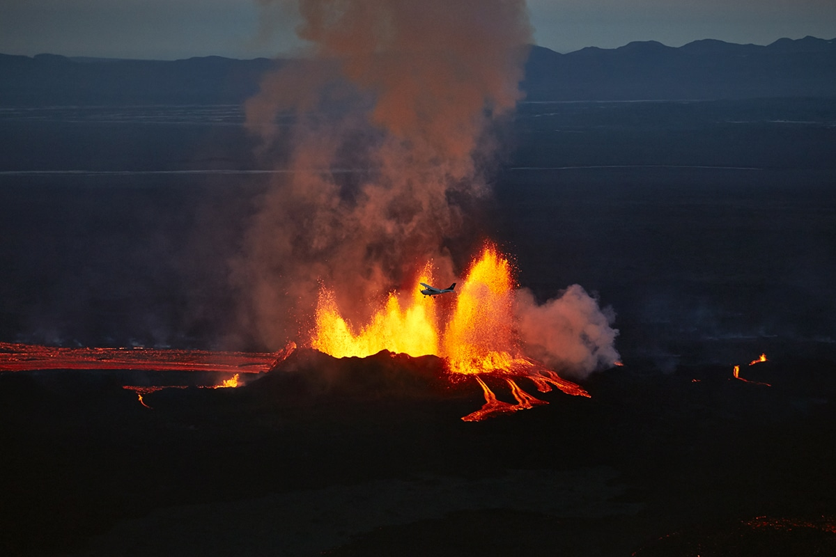 Holuhraun Volcanic Eruption Photographs by Axel Sigurðarson